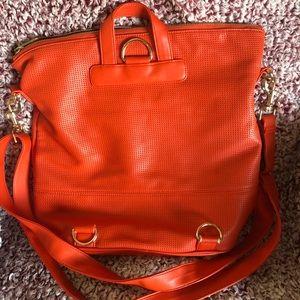 Neiman Marcus Bags - Neiman Marcus Orange and Blue boho tote bag